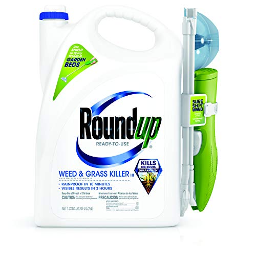 Roundup 5200501 Not Available Ready to Use Weed and Grass Killer, 1.33 gallons, 1.33 GAL (Best Thing To Kill Weeds In Flower Beds)