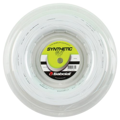 Babolat Synthetic Gut Tennis String – White – 1.30mm/16G – 200m (660ft) Reel