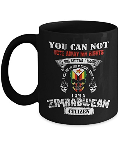 Zimbabwe Mug Zimbabwean Mug Coffee Flag Beer Travel Cute Gifts For Your Dad Mom Friend as Seen on T Shirt 11 Ounce Black Ceramic Cup Mugs