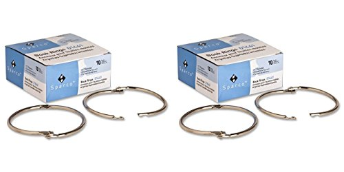 (Book Ring - Sparco - 3-Inch Diameter, 10 per Box, Silver (SPR01441) (2 Boxes))