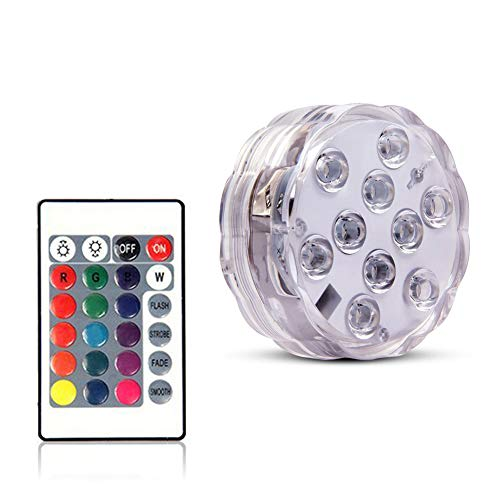 Yeyo Underwater Submersible LED Lighting Waterproof Multi Color Changing for Hot Tub,Swimming Pool,Pond,Vase Base, Hookah Floral,Aquarium, Wedding, Halloween, Party, Christmas (High Tech Bong)