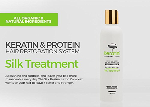 Keratin Silk Treatment Enhanced Formula 8oz / (Silk Usa Hair Straightener)