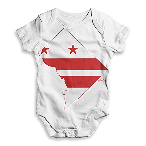 Twisted Envy All Over Print Baby Onesie USA States and Flags Washington DC White 0 - 3 Months (Best Of Dc Celebration)