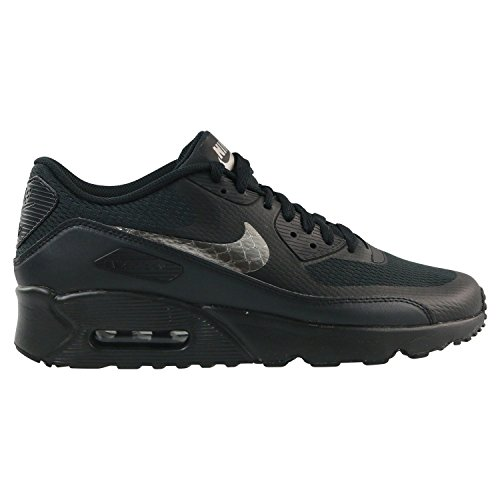 Nike Air Max 90 Ultra 2.0 (GS), Zapatillas Para Niños Negro (Black/metallic Pewter-black 011)