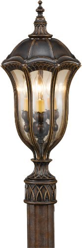 - Feiss OL6007WAL Baton Rouge Outdoor Post Lighting, Brown, 3-Light (10