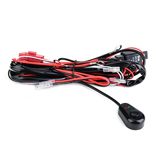Aramox Wiring Harness,Car Relay Wiring Harness Kit LED Light Bar Fog Light Convertion Adapter: