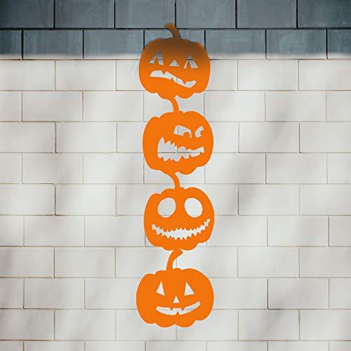 Vinyl Wall Art Decal - 4 Stacked Pumpkins - 21