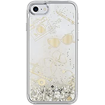 kate spade new york Liquid Glitter Clear Case for iPhone 7 - Gold / Favorite Things