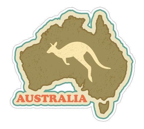 Australia travel sticker vinyl decals bumper stickers ()