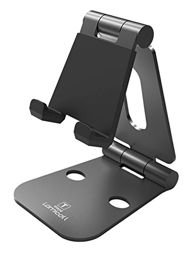 Portable Foldable Adjustable Cell Phone Stand : Lamicall iPhone Stand For all Android Smartphone, iPhone 6 6s Plus 5 5s 5c 7 charging, Accessories Desk, Tablet - Black