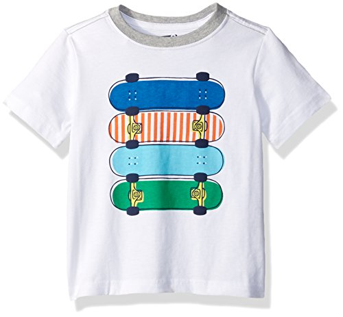 Crazy 8 Baby Toddler Boys' Li'l Guy's Screen Tee, Skateboards White, 3Y