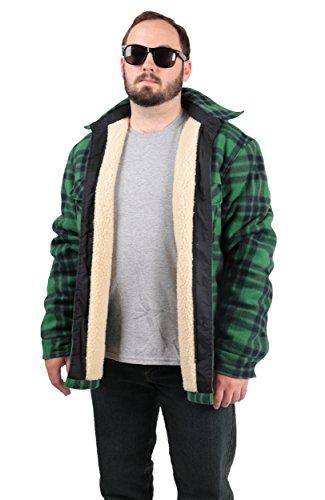 woodland-supply-co-plaid-fleece-sherpa-lined-hoodie-jacket-medium-green-blue