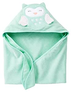 Carter's Hooded Towel - Mint Owl