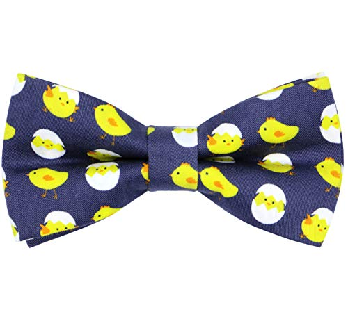 OCIA Cotton Cute Pattern Pre-tied Bow Tie Adjustable Bowties for Mens & Boys Cute Chick