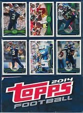 Seattle Seahawks 2012 2013 2014 s Football team Topps Detroit Mall complete Cheap mail order shopping