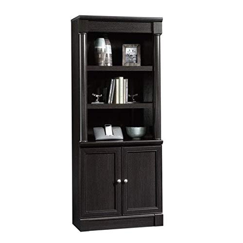 Sauder Palladia Library With Doors, Wind Oak finish (Oak Living Room Units Shelving)
