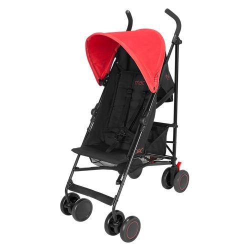 MAC by Maclaren M-02 Umbrella Stroller, Black/Redstone