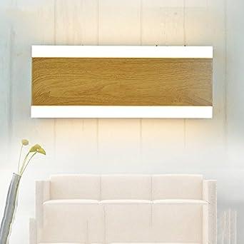 ZHFC-les feux modernes du mur du salon minimaliste nordique imitation bois feu chambre lampe de chevet l'art miroir lampe, longtemps lumière chaude zhfc-lampes
