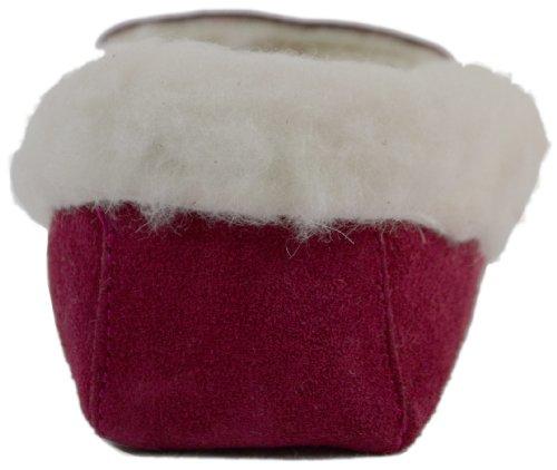 Snugrugs Kvinna Ull Fodrad Mockasin Tofflor Med Mjuk Sula Och Ull Manschetten Crimson