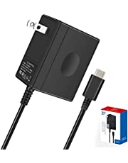 Switch Charger for Nintendo Switch/Switch Lite/Pro Controller/Switch Dock with 5ft Type C Cable,Support TV Mode,2.5 Hours Fast Travel Wall Charger,15V/2.6A AC Adapter Power Supply