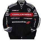2017 Dodge Challenger Collage Mens Black Twill Jacket by JH Design (XL)
