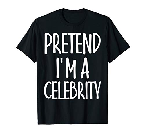 Celebrity Black Face Halloween Costume (Easy Pretend I'm Celebrity Costume Gift for Famous Halloween)