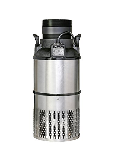 Tsurumi 4HF (100AB2.4S) 1/2hp, 115V, Submersible Pond & Waterfall Pump, Stainless Steel, high Flow, 12,500 GPH, 4