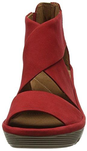 Glamor Zeppa Sandali con Nubuck Clarks Donna Clarene Red Rosso qwaPxx7