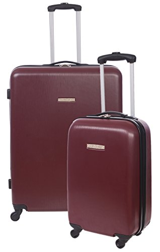Renwick 2 Piece Luggage Set Hardside Spinner 29 Inch & 20 Inch Carry On Suitcase Burgundy