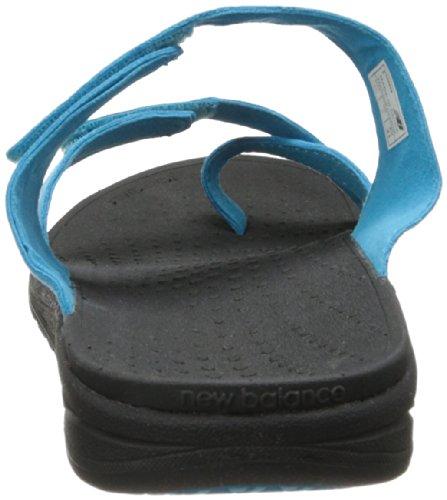 New Balance womens Revitalign Refresh Slide Sandal Black/Blue