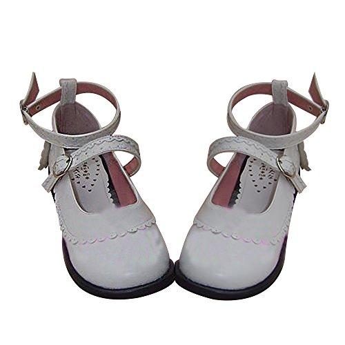 Punk Heel Shoes Women's 5cm Mtxc Lolita Lady White 9129 1 EwFgxgqdn
