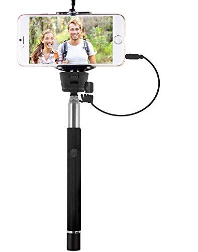 Becker Aluminum Handles - Vivitar Viv-tr-365-blk Smartphone Selfie Wand with Built-In Shutter Release (Black)