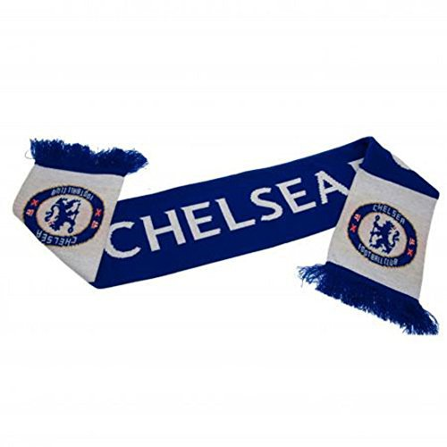 Chelsea Word Mark Scarf - Multi-Colour, One Size by Chelsea F.C. (Scarf Words)