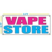 Amazon com : VAPE STORE Banner Sign : Office Products