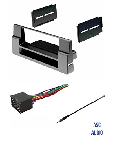 ASC Car Stereo Install Dash Kit, Wire Harness, and Antenna Adapter for installing a Single Din Radio for select BMW 5 Series and X5 - No Factory Nav - See Years and Compatibility Below