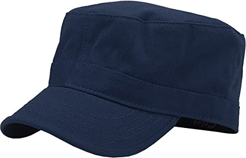 KBK-1464 NAV M Cadet Army Cap Basic Everyday Military Style Hat Navy
