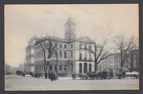 Horse 1908 (City Hall Hartford CT undivided back postcard 1908 Old State House Horse & Buggy)
