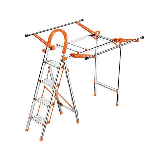 CAIJUN Folding Ladder Drying Rack Aluminum Alloy Portable No