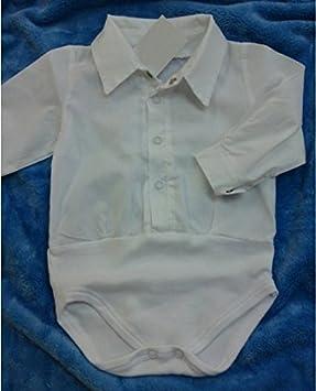 Baby Hemd Body weiß Jungen Taufbody Babybody langarm festlich Taufe Hochzeit