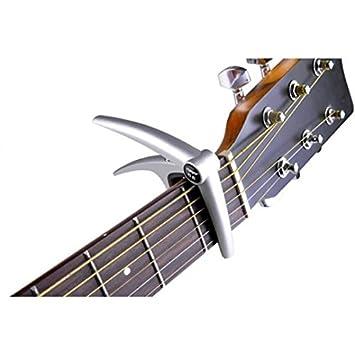 HITSAN - Cejilla de aluminio para guitarra eléctrica acústica de 6 cuerdas: Amazon.es: Instrumentos musicales