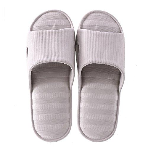 Ménage de love Été Glisser Casual Bains Intérieur Sandales Anti Pink Slip Unisexe Size Pantoufles Pantoufles 40 Gray Angel Couple de EU Color Salle beauty tAvqwvF