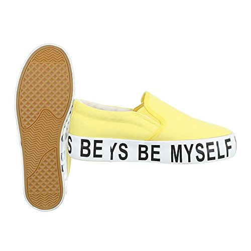 Ital-Design Women's Slippers Gelb BL22P 3iRmyMlRJT