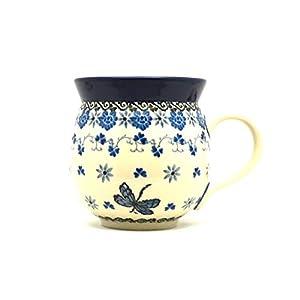Polish Pottery Mug – 11 oz. Bubble – Dragonfly