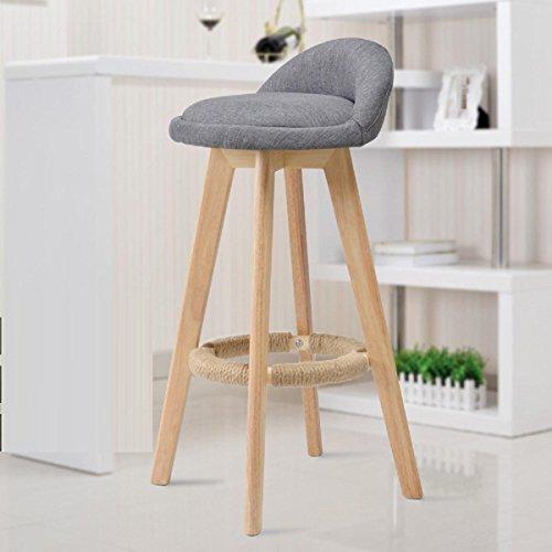 GAOJIAN Solid Wood Bar Chair Creative High Chair European Style Bar Chair  Wood Front Desk Retro