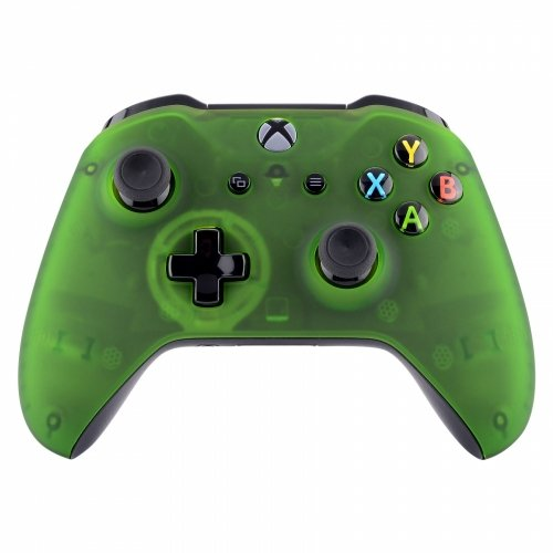 Transparent Green Xbox One S Wireless Bluetooth Custom Controller (Chrome One Controller Green Xbox)