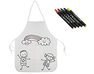 Delantal para pintar para niños - Pack de 10: Amazon.es