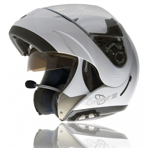 Amazon.es: NZI 050244G307 Convert III, Casco de Moto, con Intercom IMB, Blanco, Talla M