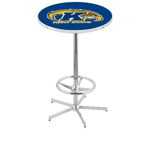 """Holland Bar Stool L216C Kent State University Officially Licensed Pub Table, 28"""" x 42"""", Chrome"""