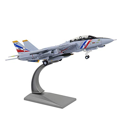 (HANGHANG 1/100 Scale F-14 Attack Plane Metal Fighter Military Model Fairchild Republic Diecast Plane Model for Commemorate Collection or Gift)