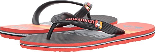 Quiksilver Boys' Molokai Print Youth Sandal, Black/Red/Grey, 6 M US Big Kid
